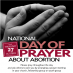 National Day of Prayer about Abortion 27 October